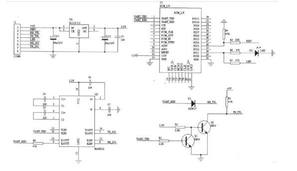 汽車藍牙模塊的電氣原理圖