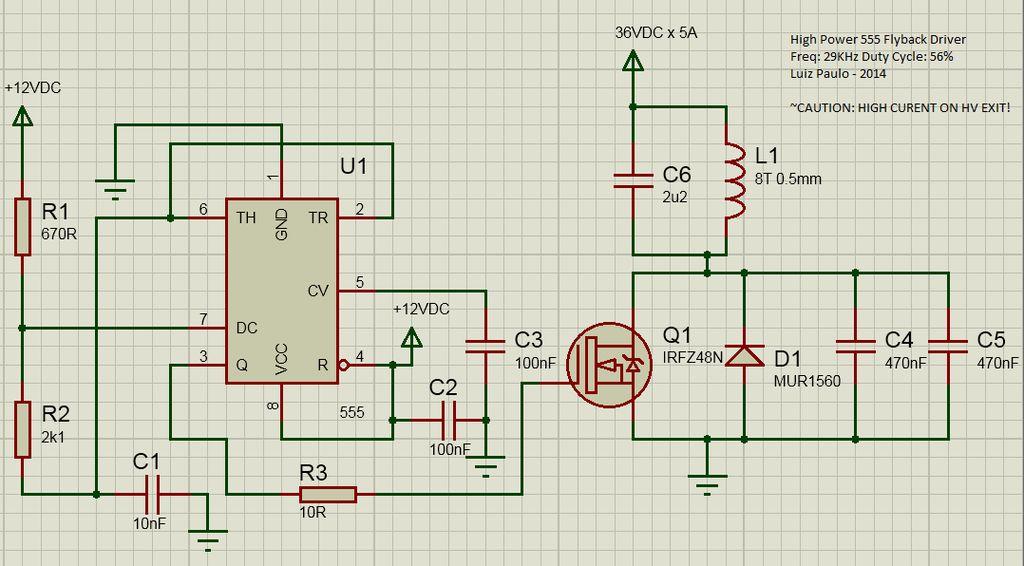 如何制作大功率555反激式驱动器