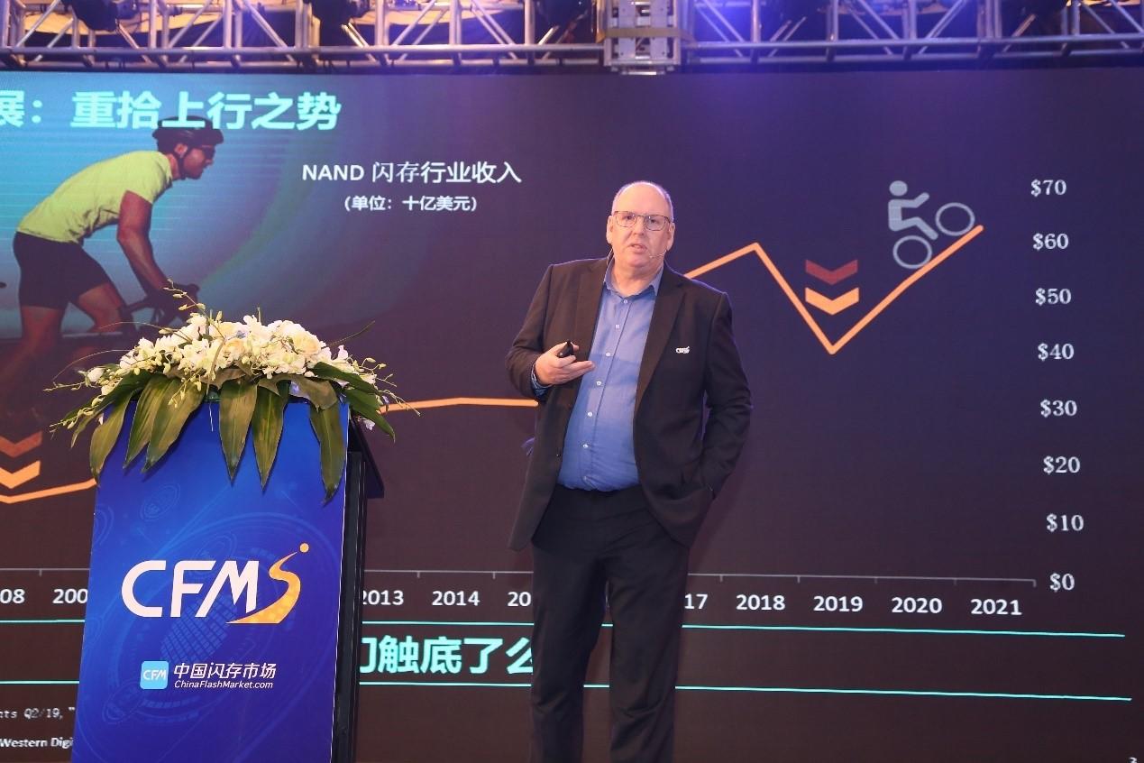 西部数据公司高级副总裁兼中国区总经理Steven Craig认为NAND闪存将会重拾上行之势