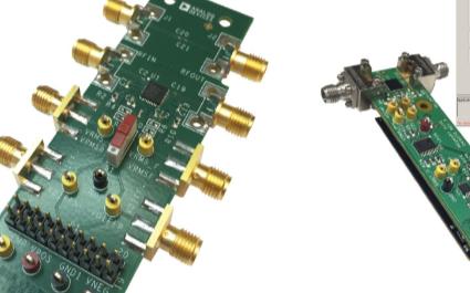 多种频率下正向路径检测器的典型输出电压与输入功率的关系