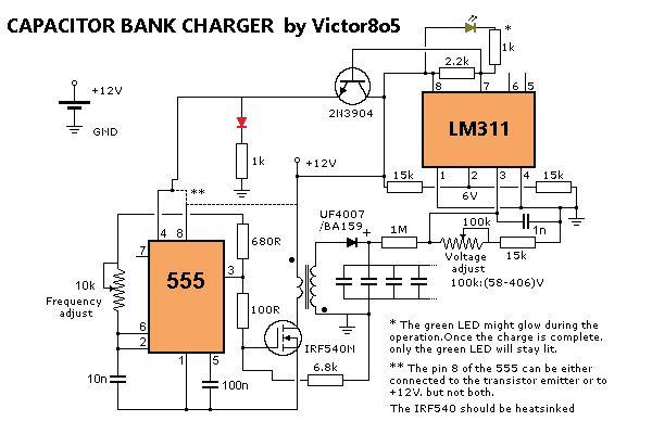 电容器充电器的制作教程