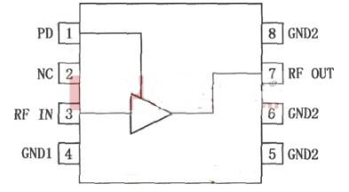 RF2347低噪聲放大器的引腳功能與排列介紹