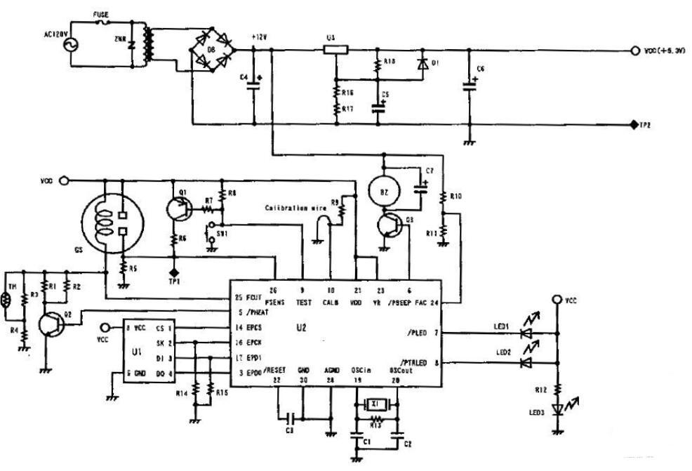 一氧化碳传感器电路图