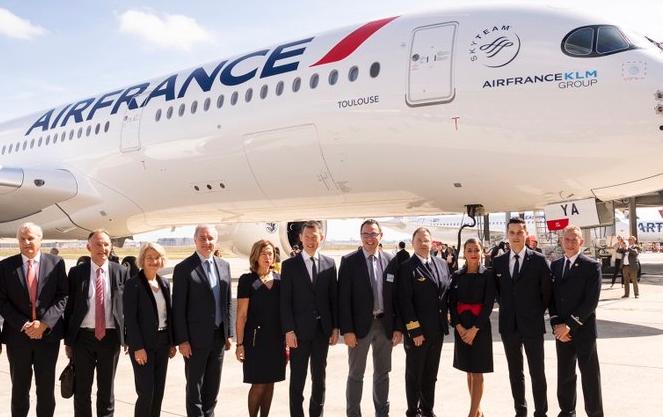 法國航空接收了一架世界上最高效的全新寬體飛機空客A350-900