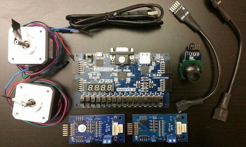 如何使用操纵杆通过FPGA控制步进电机