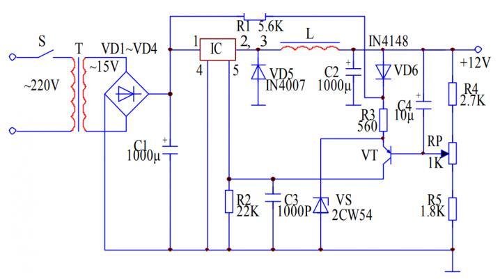 開關直流穩壓電源電路圖