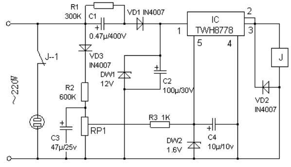 过压自动断电装置电路工作原理