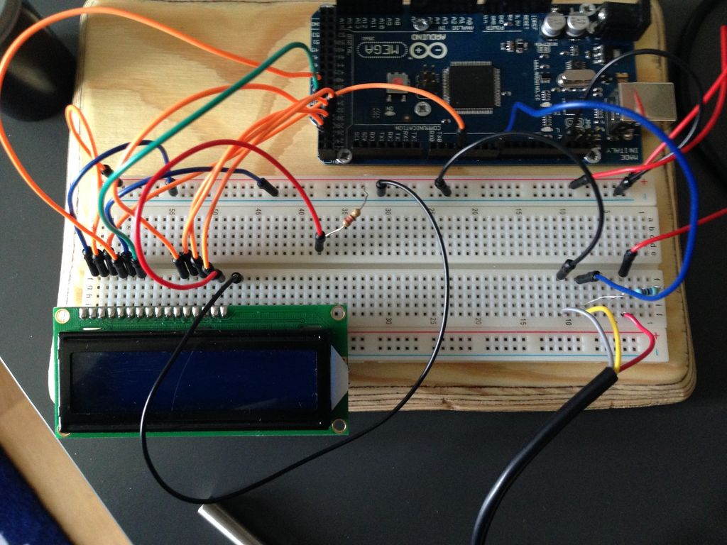 DS18B20带有LCD的温度探头的制作
