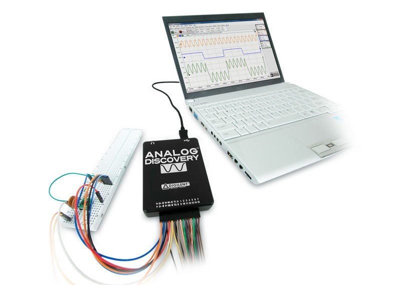 如何将Analog DiscoveryUSB示波器连接到LabVIEW