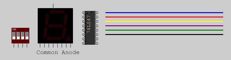 如何制作4位二进制手动计数器