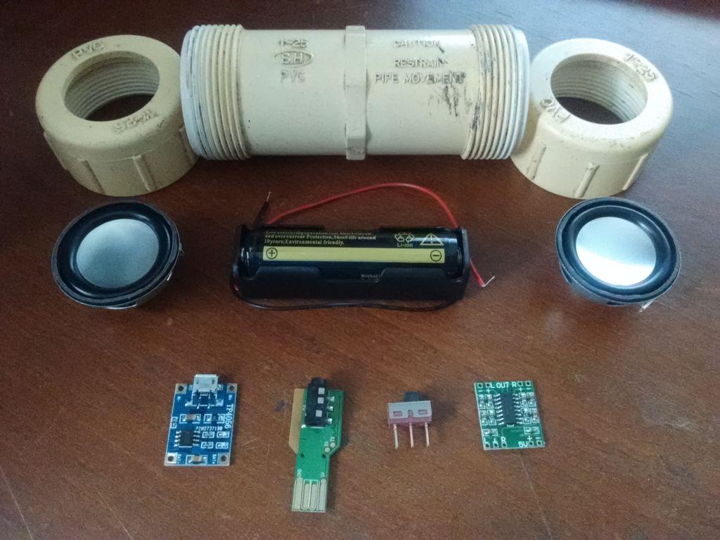 便携式PVC管蓝牙音箱的制作