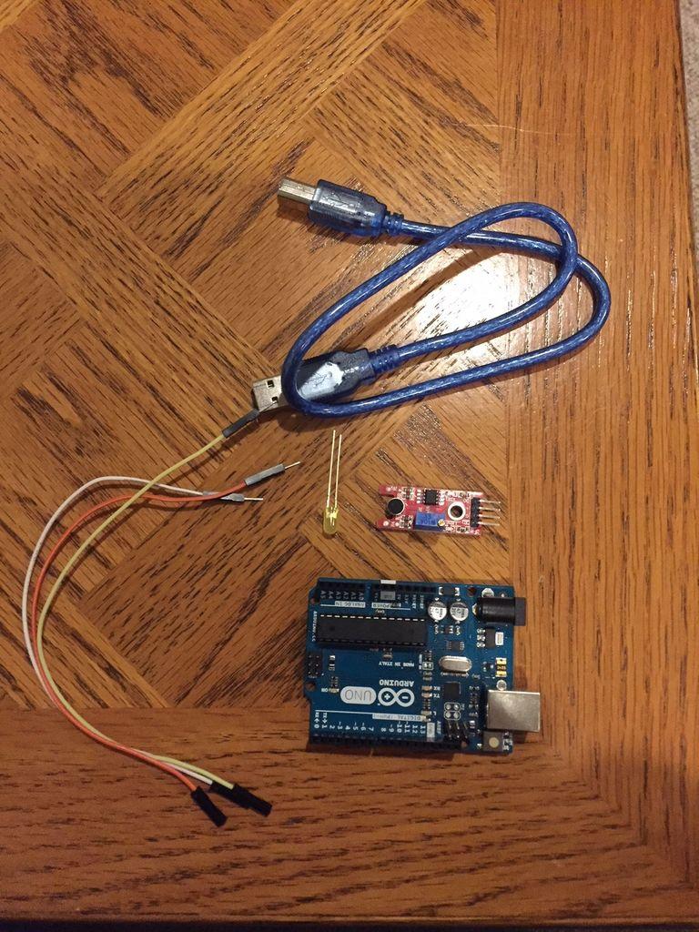 帶LED的Arduino聲音傳感器的制作