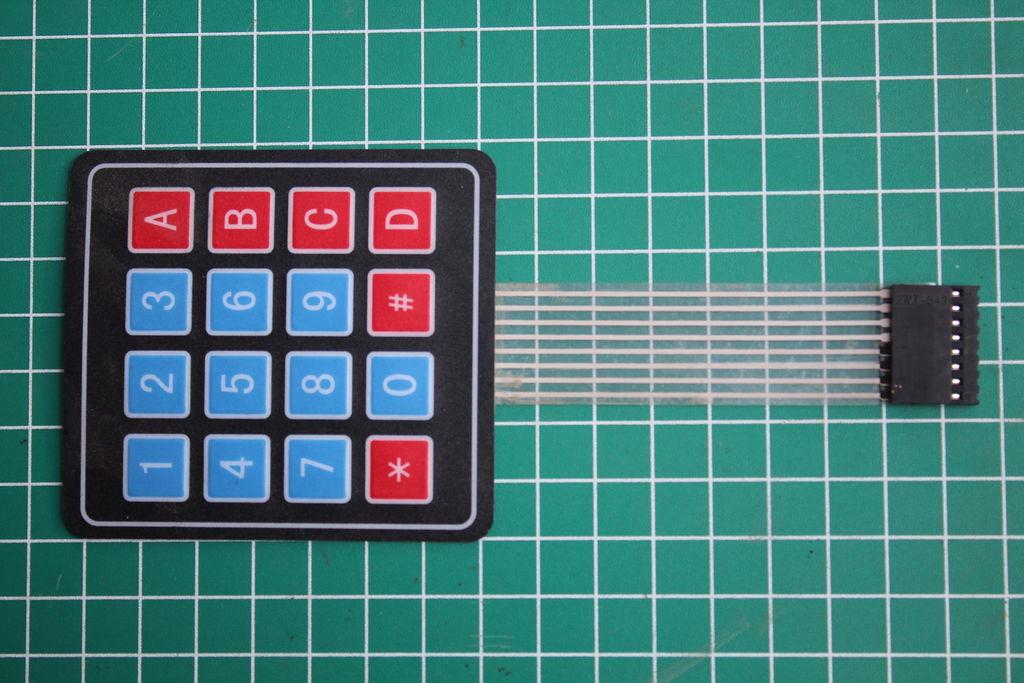 4x4矩陣膜鍵盤的制作教程