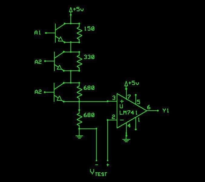 自制DAC A / D转换器图解