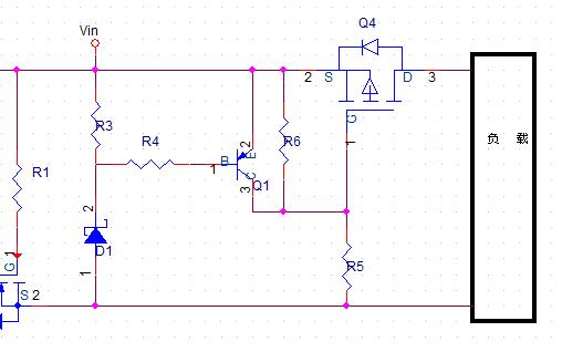 MOS管防反接防過壓電路