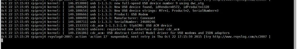 怎样在树莓派中安装调制解调器USB设备