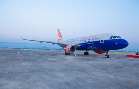 桂林航空的第四架彩绘飞机正式启航将执飞桂林航空国内主要干线