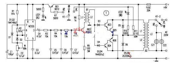 简易逆变器电路工作原理图
