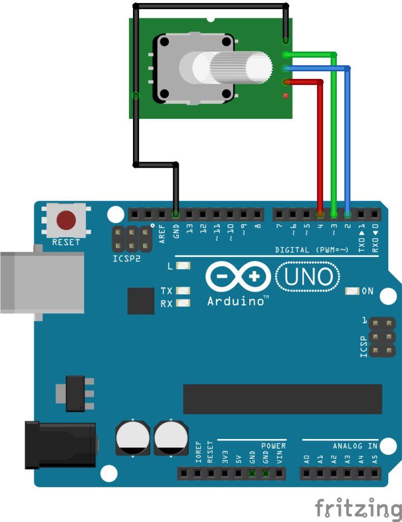 如何设置用于旋转编码器的简单Arduino菜单