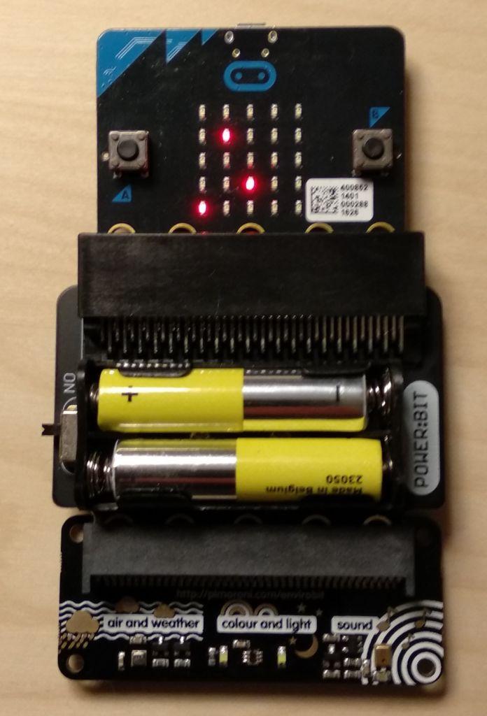 Micro:bit噪聲電平檢測器的演示
