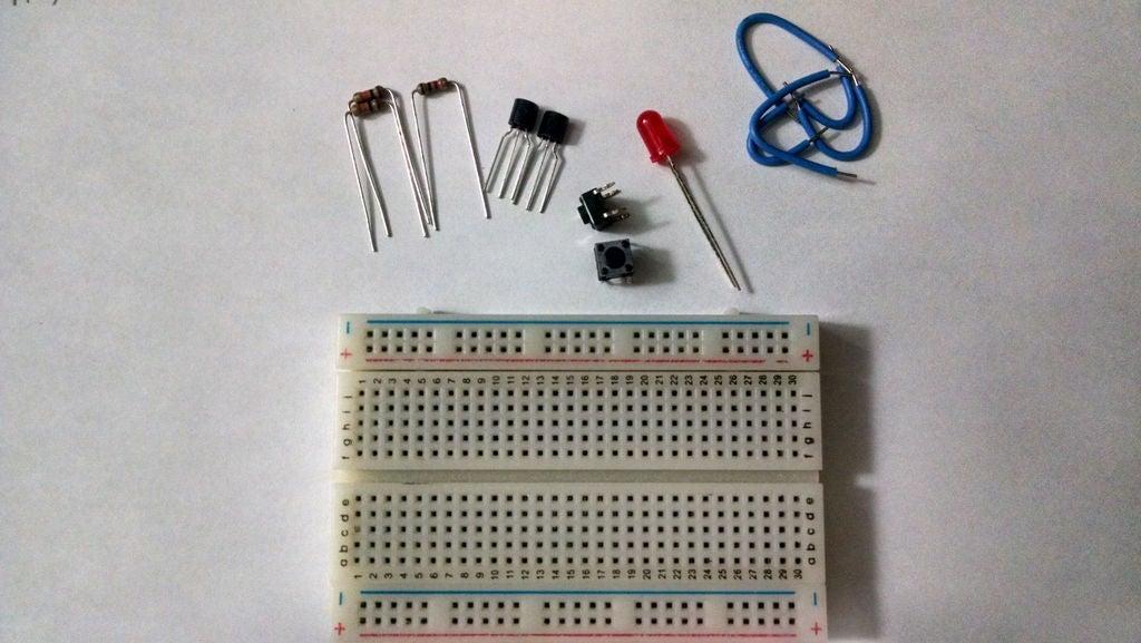 如何使用兩個NPN晶體管構建AND門