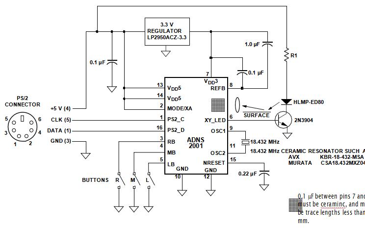 安捷伦ADNS2001光电鼠标传感器的数据手册免费下载