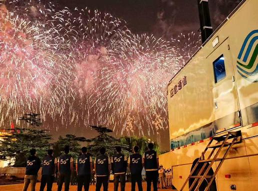 三大运营商和华为利用5G技术为国庆阅兵活动带来了...
