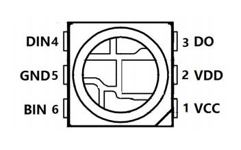 WS2815B智能外控集成LED光源芯片的数据手册免费下载