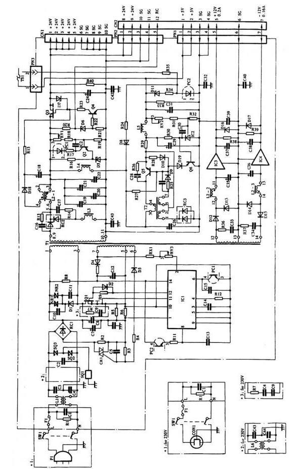 傳真機電源電路工作原理與過程