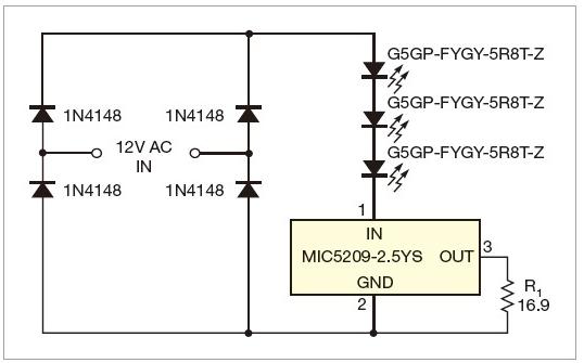 景觀照明系統的LED限流器設計