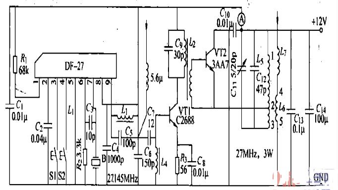 机器人无线遥控发射接收电路