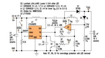 基于一个800kHz单端初级电感转换器对白光LED的驱动设计