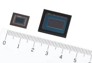 應用于安防攝像機的4K CMOS圖像傳感器。(左:IMX415;右側:IMX485)
