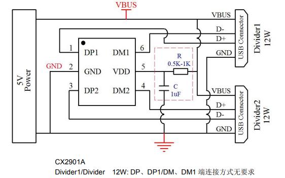 CX2901A USB充电协议端口控制IC的数据手册免费下载