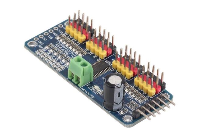 16路PWM输出的PCA9685模块进行I2C通信的工程文件免费下载