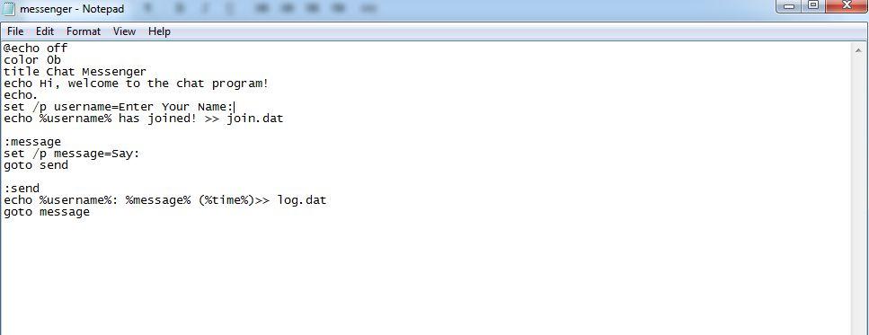 如何制作CMD聊天程序