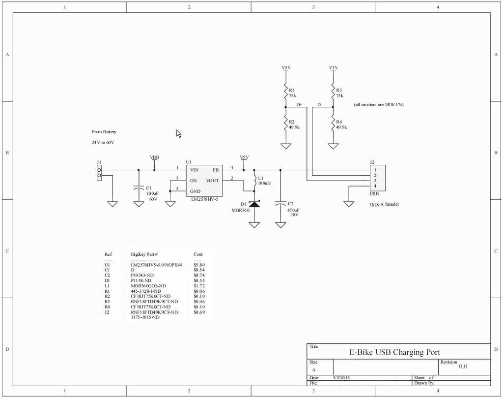 如何为电动自行车建立USB充电端口