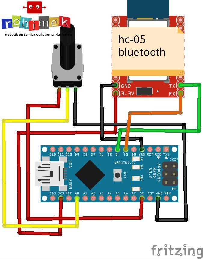 怎样通过蓝牙用电位计来控制伺服电机