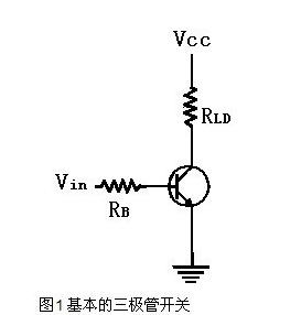 三極管電子開關的基本原理及設計方法