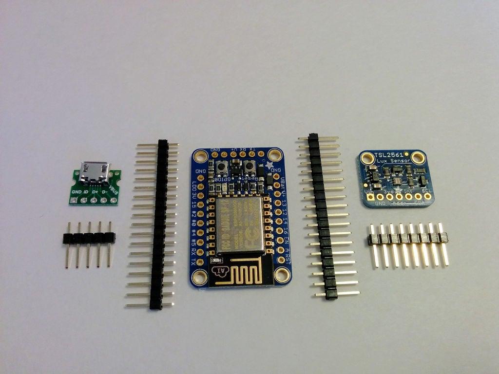 帶ESP8266的照度監控器的制作