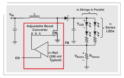 平板电脑背光LED驱动器电路的设计