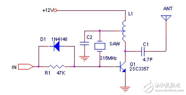 无线电遥控发射头的收电路设计