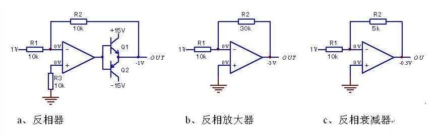 反相放大器結構原理和故障檢修