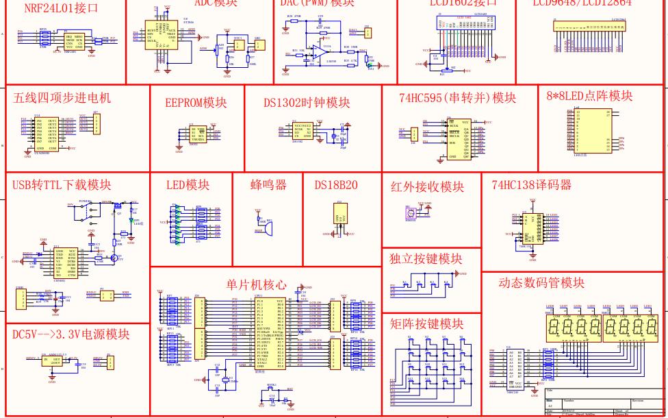 A2的单片机开发板的电路原理图免费下载