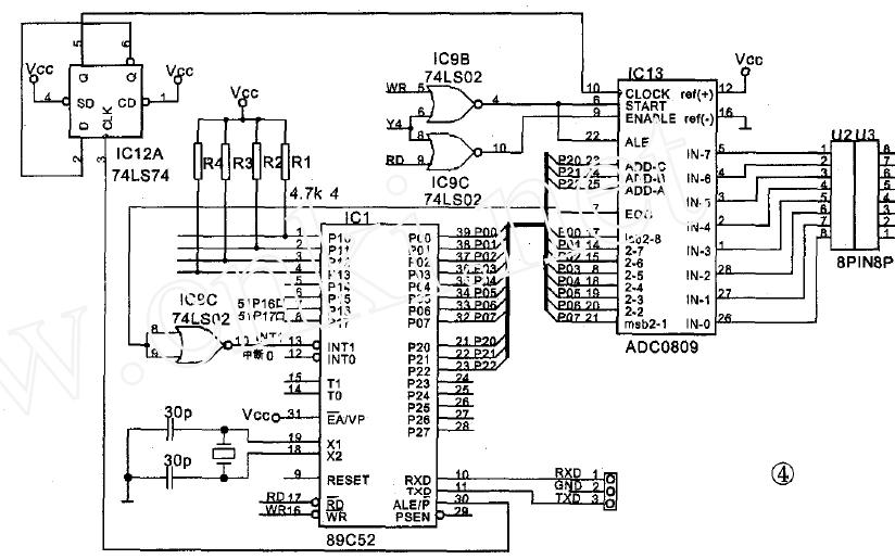 使用89C51和89C2051单片机实现数据采集与传输系统的论文说明