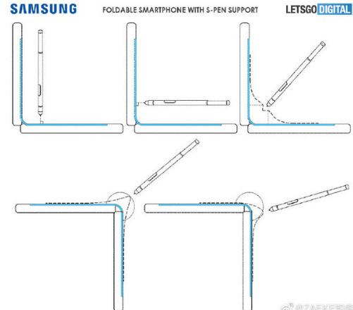 三星Galaxy Fold曝光支持手写笔功能该机屏幕弯折达到了90度