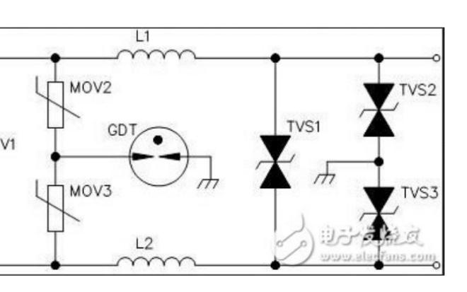 直流电源防雷的电路图和设计分析