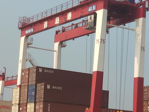 中国移动与华为助力青岛港前湾港港区成功实现了龙门...