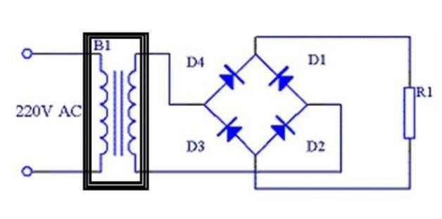 直流电通过整流电路的影响