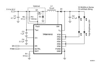 如何利用TPS6106X白光LED驱动器实现数字调光
